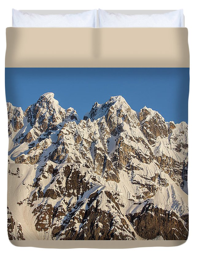 Alaska Duvet Cover featuring the photograph The Rooster Comb by Tim Grams