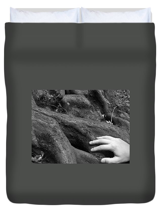 Nature Duvet Cover featuring the photograph The Roots by Daniel Csoka