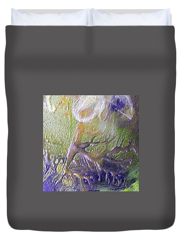 Roots Duvet Cover featuring the painting The Roots by Dragica Micki Fortuna