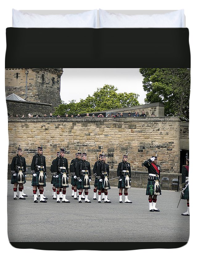 Royal Duvet Cover featuring the photograph The Royal Regiment Of Scotland by Mark Smith