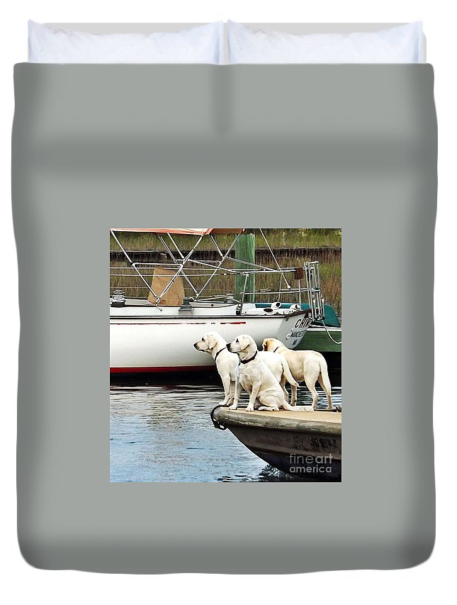 Beach Duvet Cover featuring the photograph The Sailing Club by Christy Ricafrente
