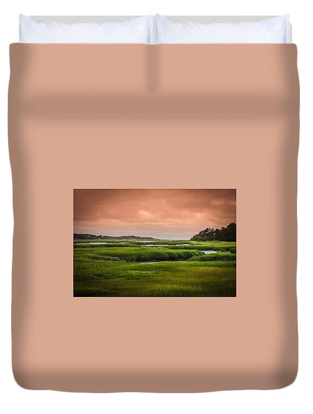 Duck Creek Marsh Duvet Cover featuring the photograph The Salt Marsh by Heather Hubbard