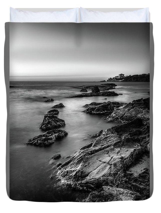 Landscape Duvet Cover featuring the photograph The Sea Serpent by Matteo Viviani
