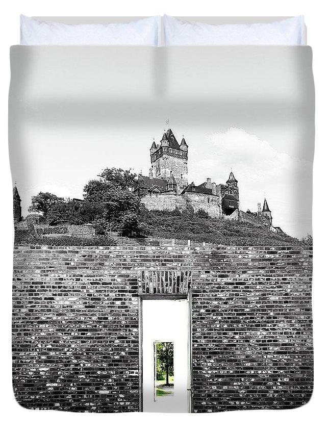 Reichsburg Duvet Cover featuring the photograph The Secret Door 04 by Zena Zero