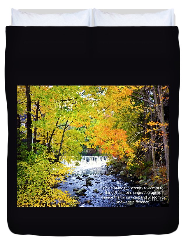 The Serenity Prayer Duvet Cover featuring the photograph The Serenity Prayer by Tommy Anderson