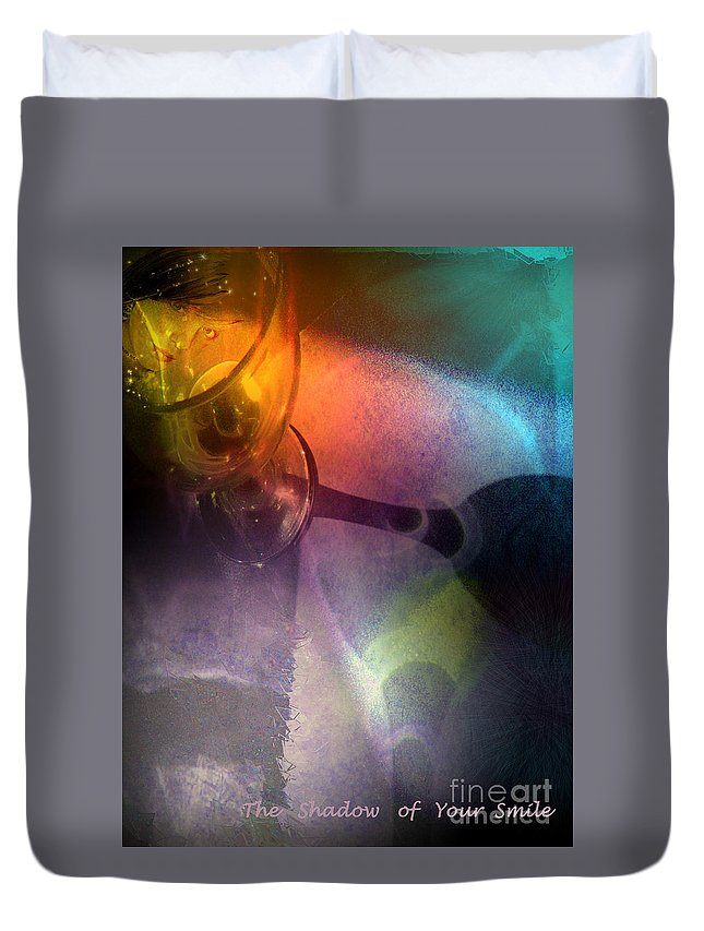 Fantasy Duvet Cover featuring the painting The Shadow Of Your Smile by Miki De Goodaboom