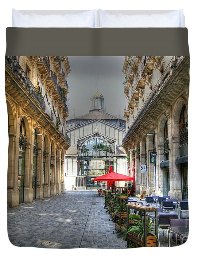 Silent Duvet Cover featuring the photograph The Silent City by David Birchall