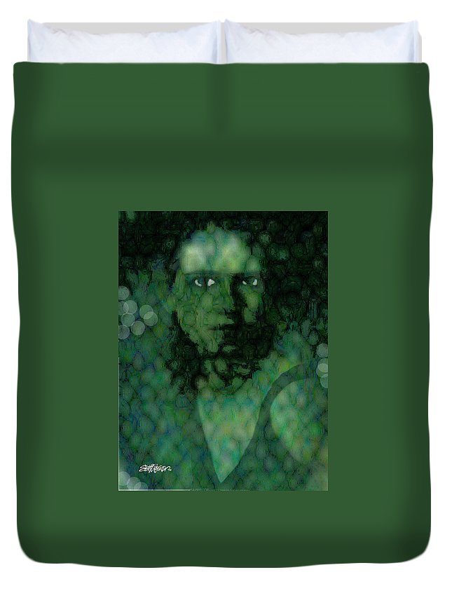 Bizarre Duvet Cover featuring the digital art The Snake Lady by Seth Weaver