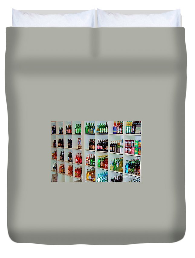 Soda Duvet Cover featuring the photograph The Soda Gallery by Debbi Granruth