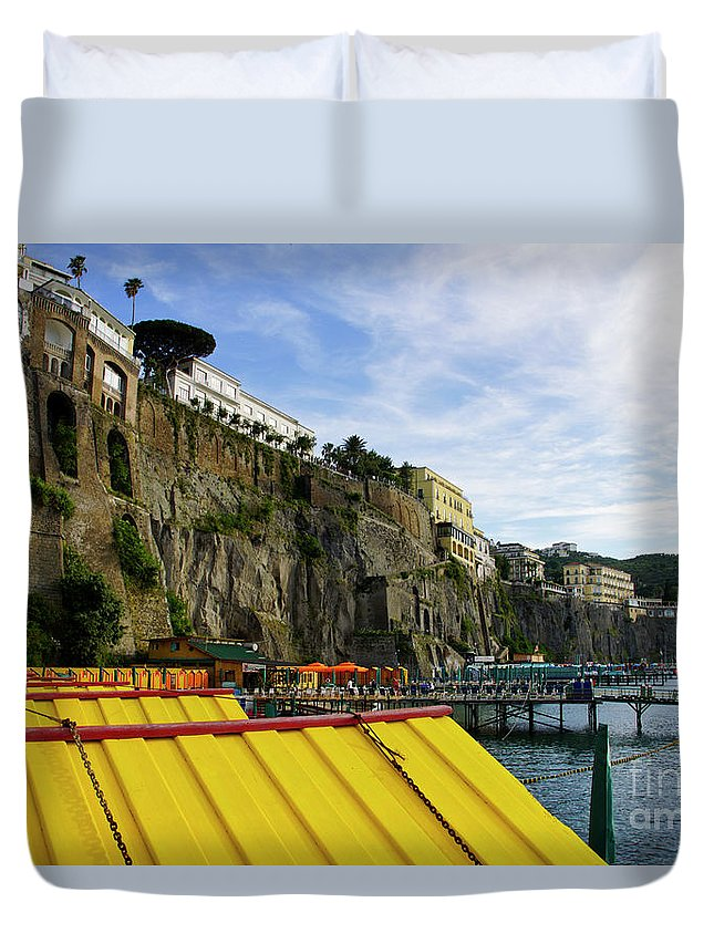 Sorrento Duvet Cover featuring the photograph The Sorrento Coast by Brian Kamprath
