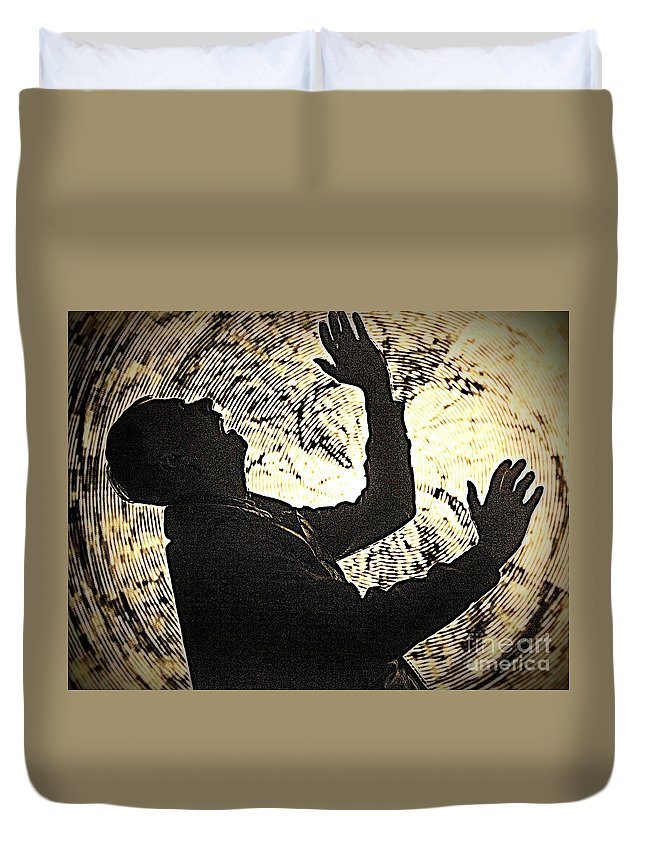 Figure Duvet Cover featuring the photograph The Sound Of Silence by Jim Cook