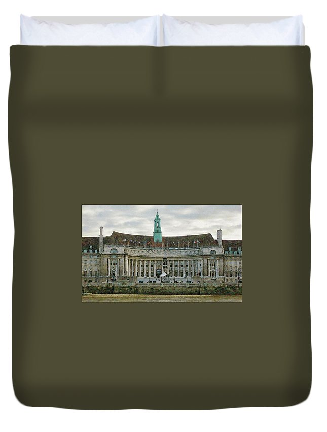 London Duvet Cover featuring the photograph The South Bank by JAMART Photography
