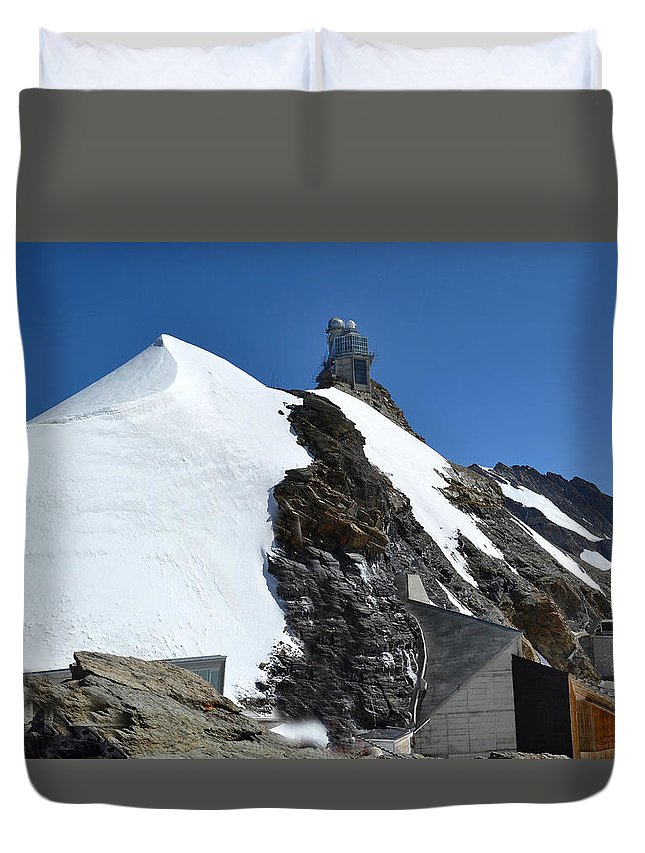 Sphinx Duvet Cover featuring the photograph The Sphinx At Jungfrau by Jeffrey Hamilton