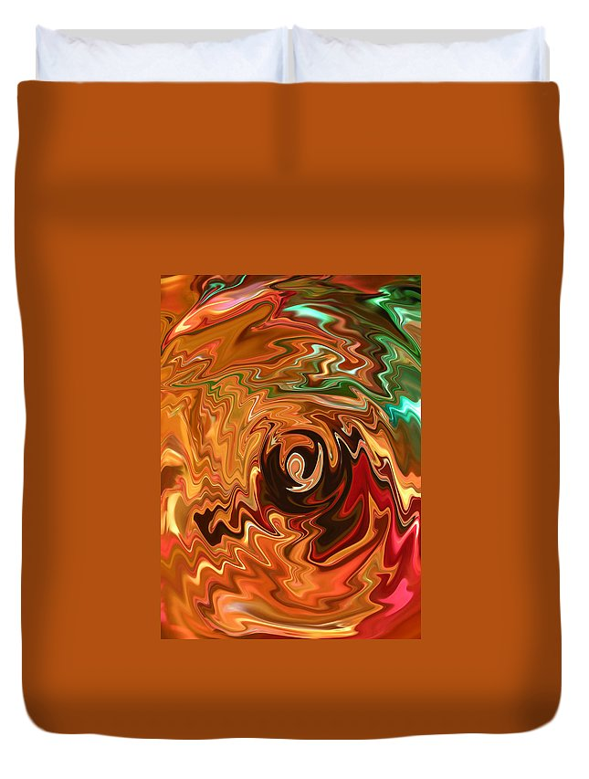 Spirit Of Christmas Duvet Cover featuring the photograph The Spirit Of Christmas - Abstract Art by Carol Groenen
