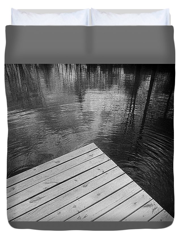 Pond Duvet Cover featuring the photograph The Spirits Of Kripplebush Pond by Yuri Lev