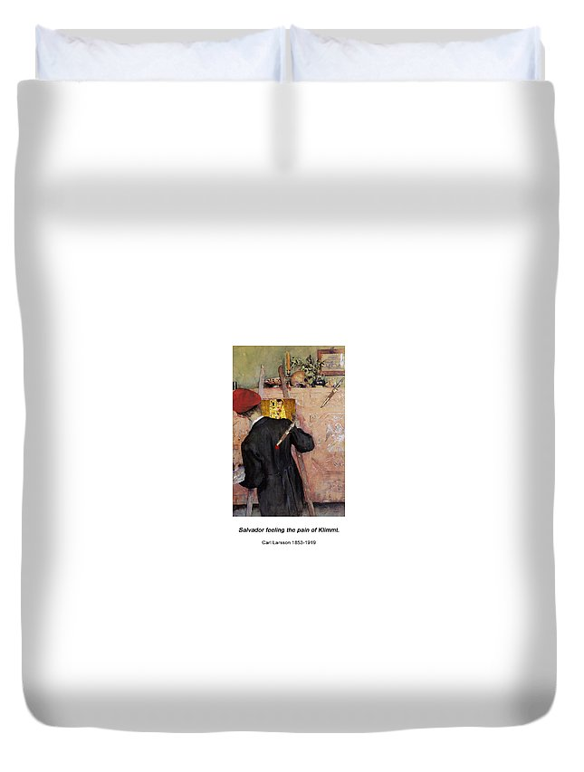 Altered Art Duvet Cover featuring the digital art The Still-life Painter by John Saunders