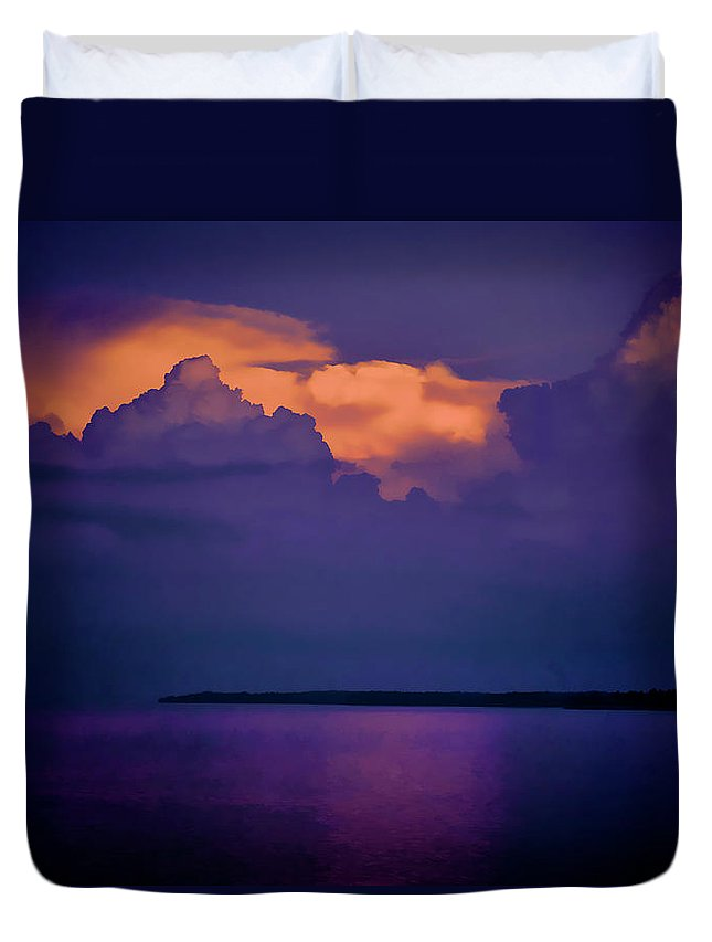 Lake Duvet Cover featuring the photograph The storm has passed at Kentucky Lake by Jim Pearson