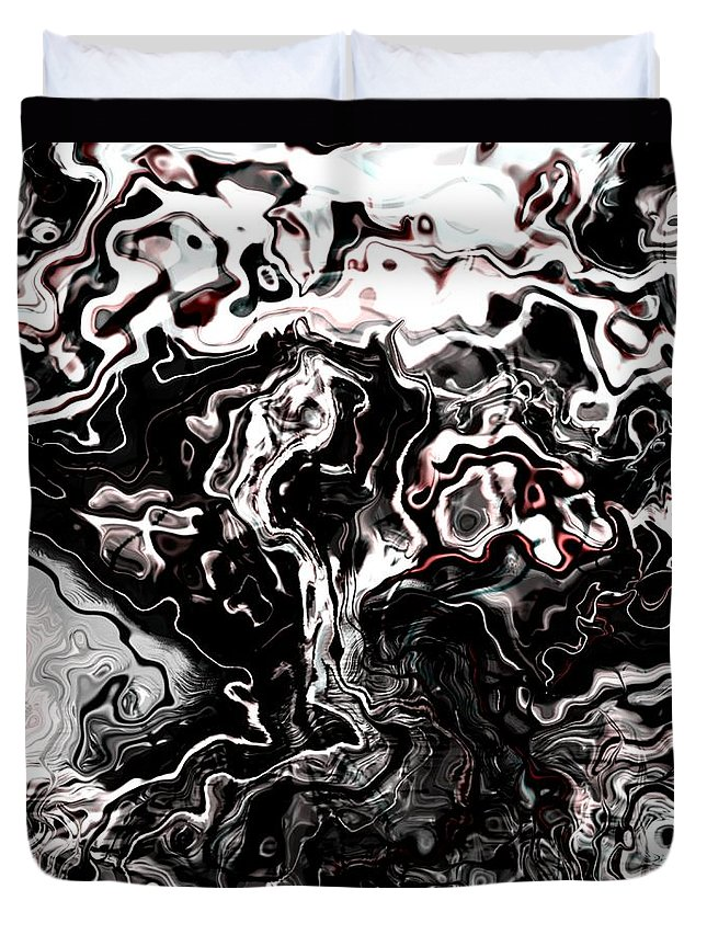 Storm Wind Clouds Nature Wind Duvet Cover featuring the digital art The Storm by Veronica Jackson