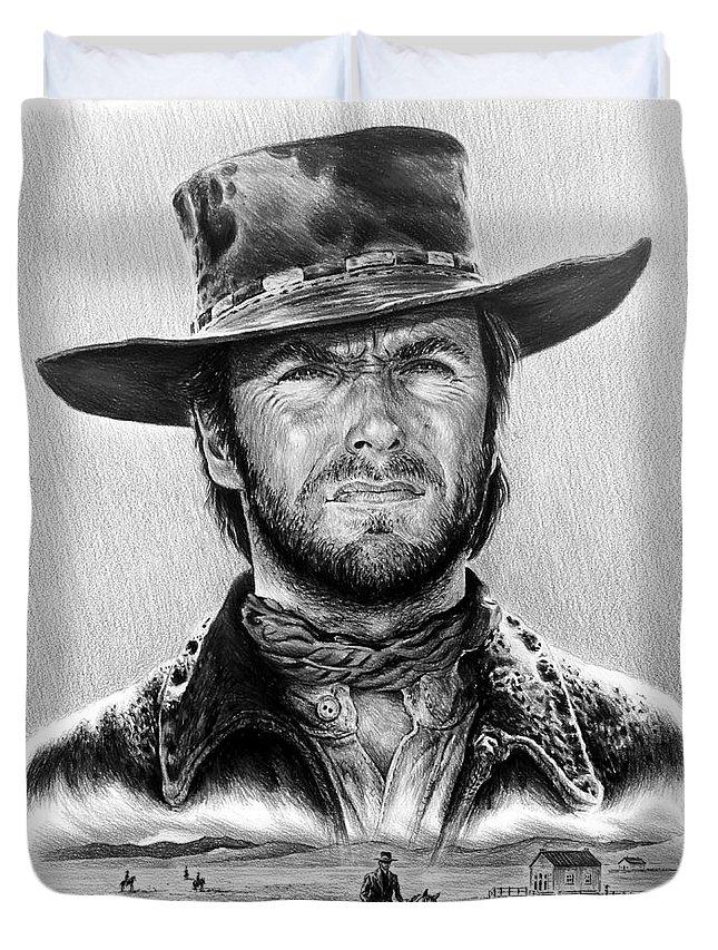 Cowboy Drawings Duvet Covers