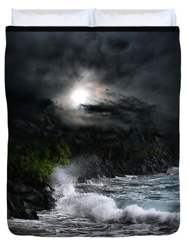 Hamoa Beach Duvet Cover featuring the photograph The Supreme Soul by Sharon Mau