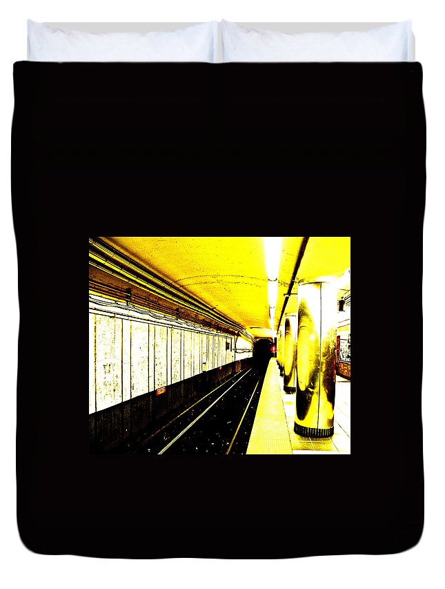 The T Duvet Cover featuring the photograph The T by Donna Shahan