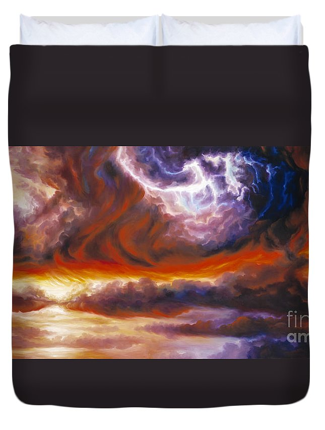 Tempest Duvet Cover featuring the painting The Tempest by James Christopher Hill