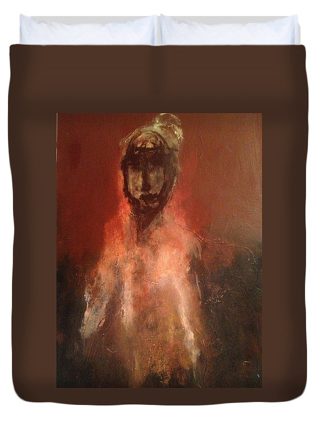 Templar Knight Duvet Cover featuring the painting The Templar by Jonn Alver