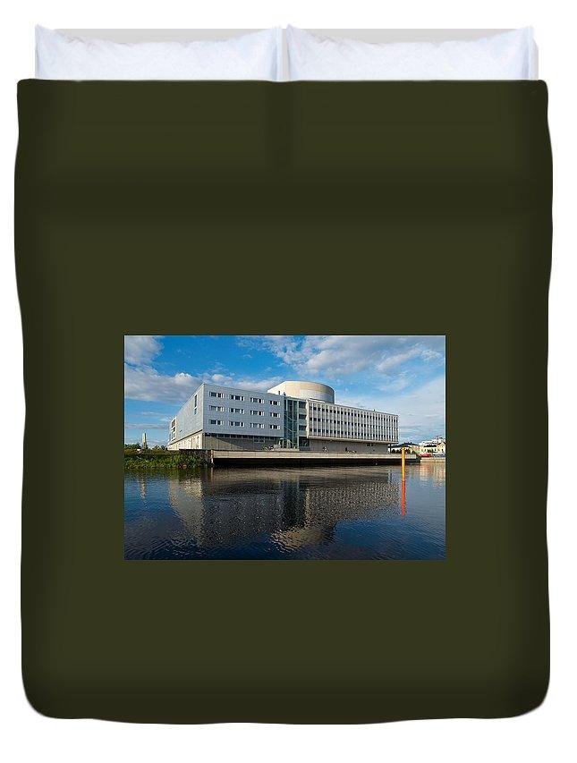Lehtokukka Duvet Cover featuring the photograph The Theatre Of Oulu 2 by Jouko Lehto