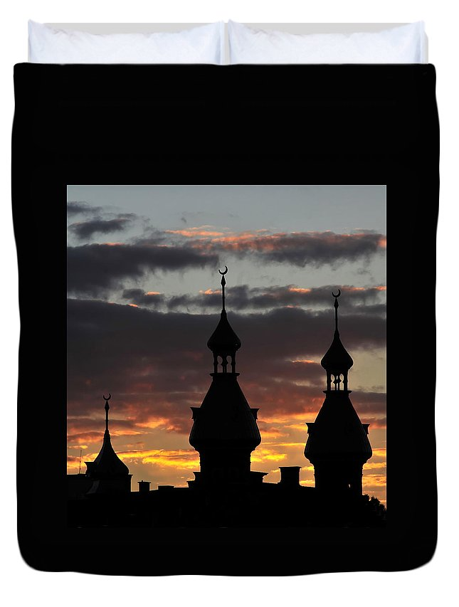 Fine Art Photography Duvet Cover featuring the photograph The Three Wise Men by David Lee Thompson