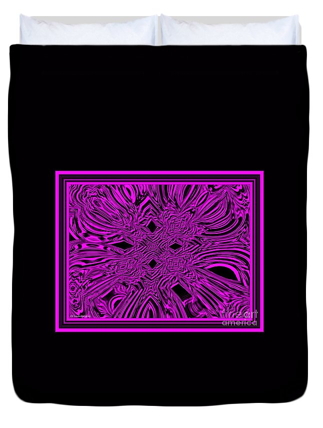 Pink Duvet Cover featuring the digital art The Throne by Debra Lynch