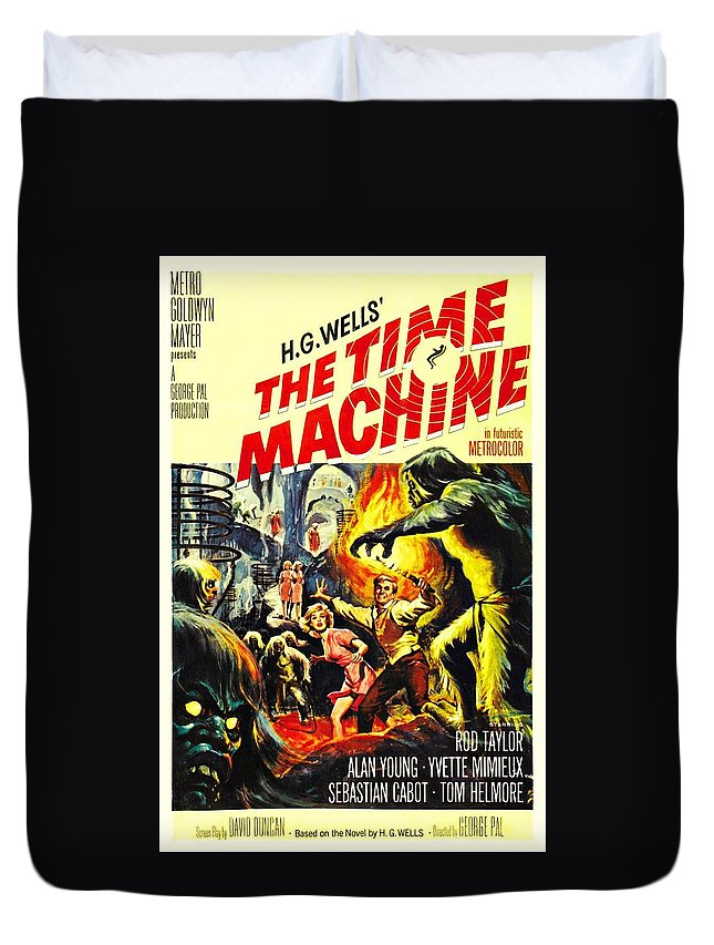 Time Machine Duvet Cover featuring the photograph The Time Machine B by Movie Poster Prints
