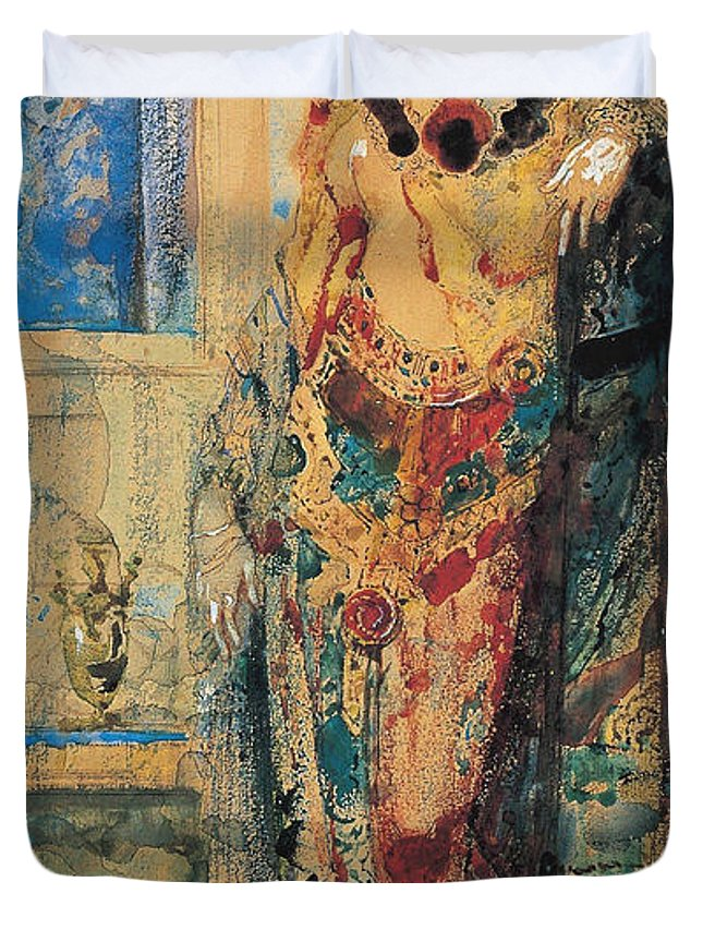 Accessory Duvet Cover featuring the painting The Toilette 1885 by Gustave Moreau