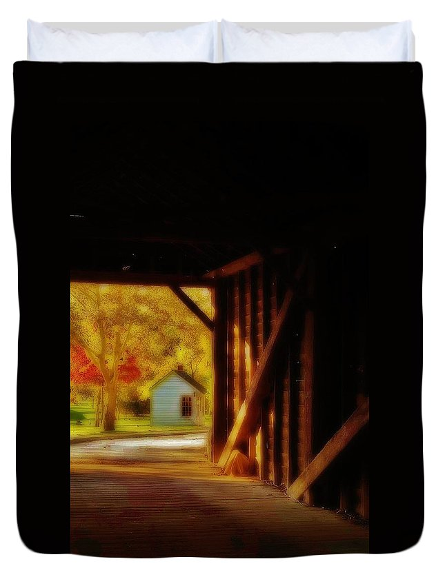 Duvet Cover featuring the photograph The Tollhouse by Daniel Thompson