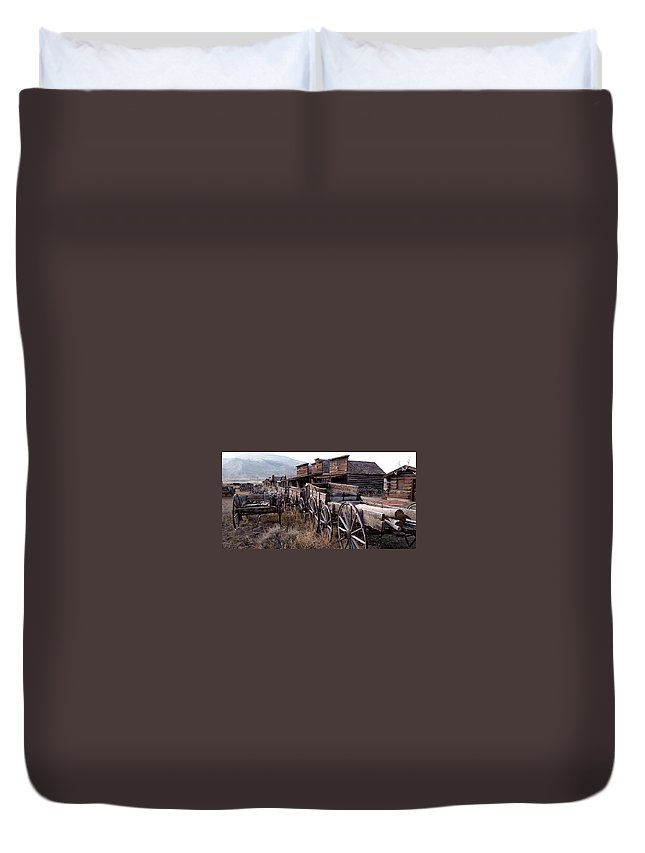 Rural Duvet Cover featuring the photograph The Town Of Cody Wyoming by Dave Sribnik