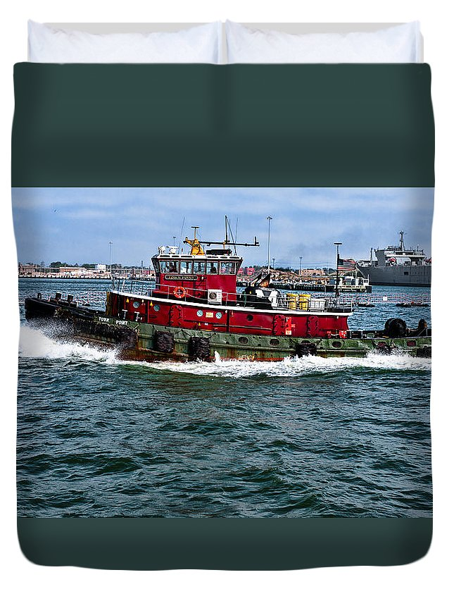 Ship Duvet Cover featuring the photograph The Town Point by Christopher Holmes