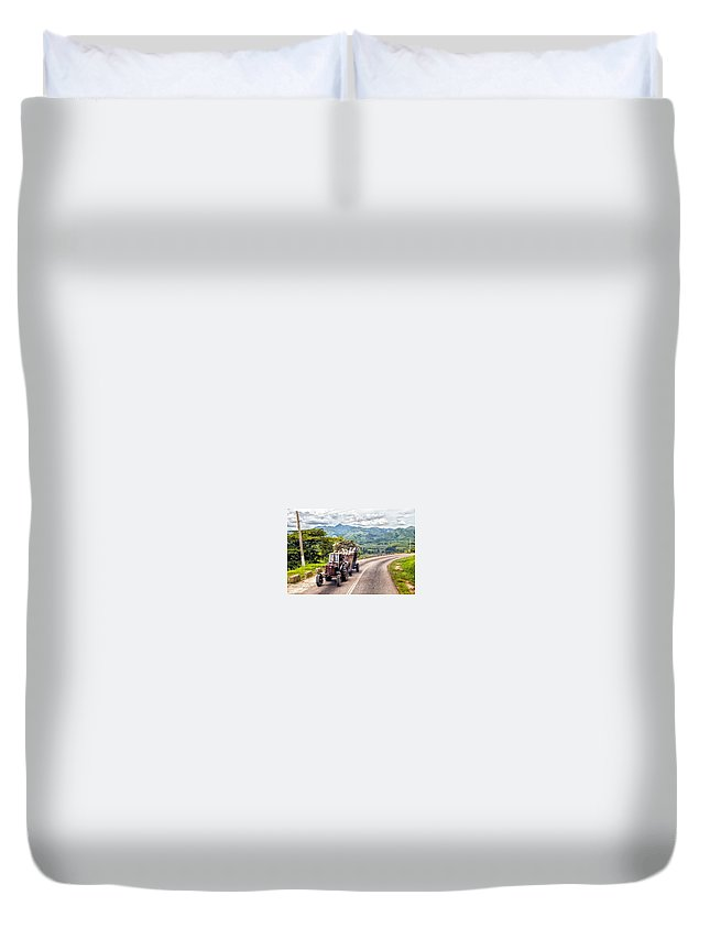 Tractor Duvet Cover featuring the photograph The Tractor by Alejandro Alfonso