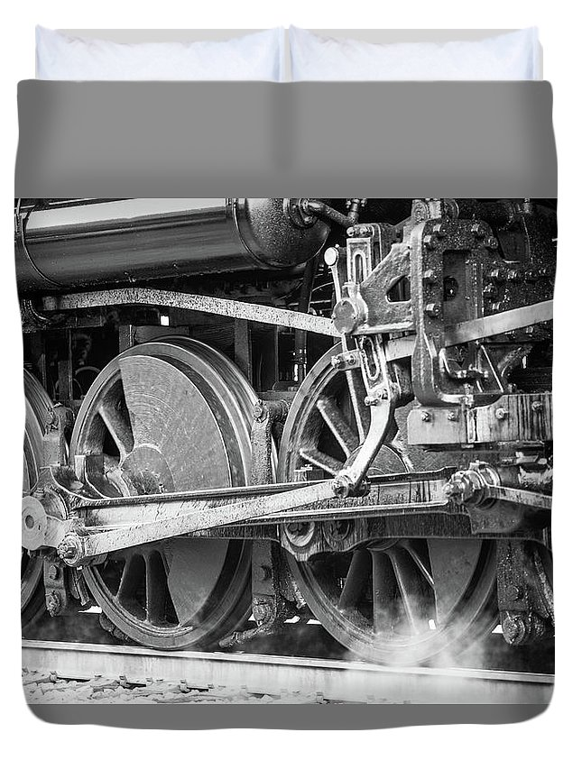 Train Duvet Cover featuring the photograph The Train Goes By by BF Melton
