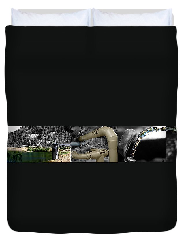 The Treatment Of Water Duvet Cover featuring the photograph The Treatment Of Water by Peter Piatt