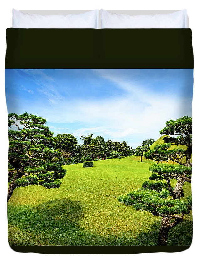 Asia Duvet Cover featuring the photograph The Tree Garden by Michael Scott