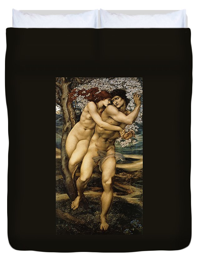 Edward Burne Jones Duvet Cover featuring the digital art The Tree Of Forgiveness by Edward Burne Jones