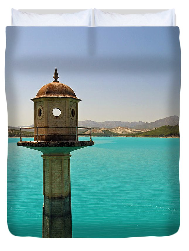 Embalse Duvet Cover featuring the photograph The Turquoise Lake by Jane McGowan
