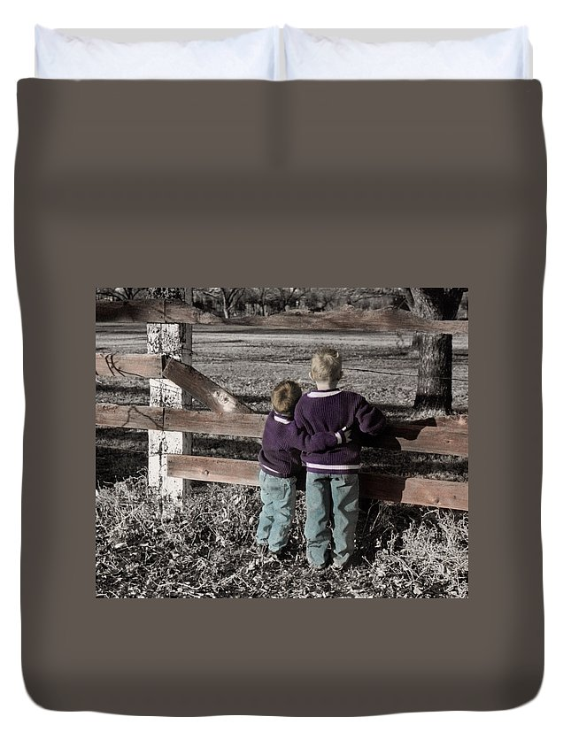 The Twelve Gifts Of Birth Duvet Cover featuring the photograph The Twelve Gifts Of Birth - Compassion 1 by Jill Reger