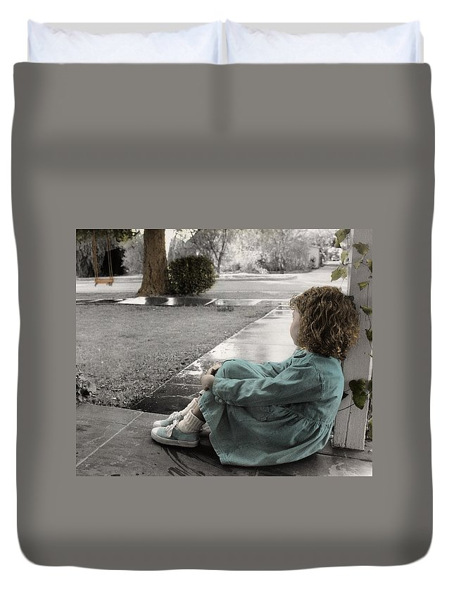 The Twelve Gifts Of Birth Duvet Cover featuring the photograph The Twelve Gifts Of Birth - Hope 1 by Jill Reger