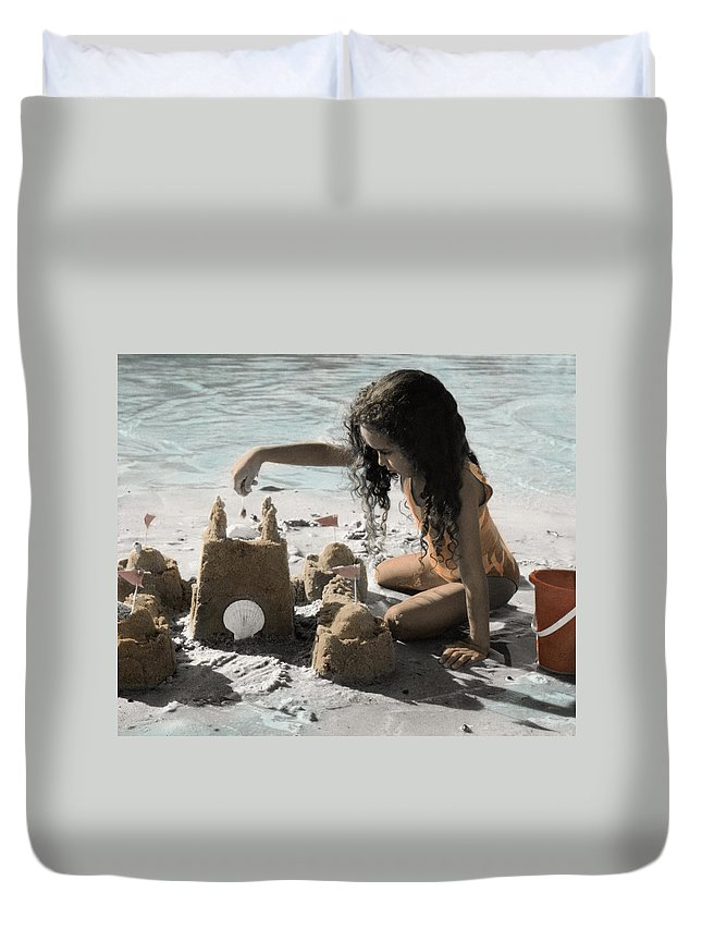 The Twelve Gifts Of Birth Duvet Cover featuring the photograph The Twelve Gifts Of Birth - Imagination 1 by Jill Reger