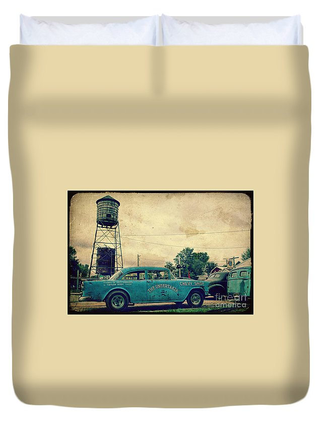 Water Duvet Cover featuring the photograph The Undertaker by Joel Witmeyer