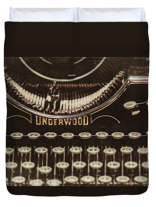 Underwood Typewriter Duvet Cover featuring the photograph The Underwood by Lisa Russo