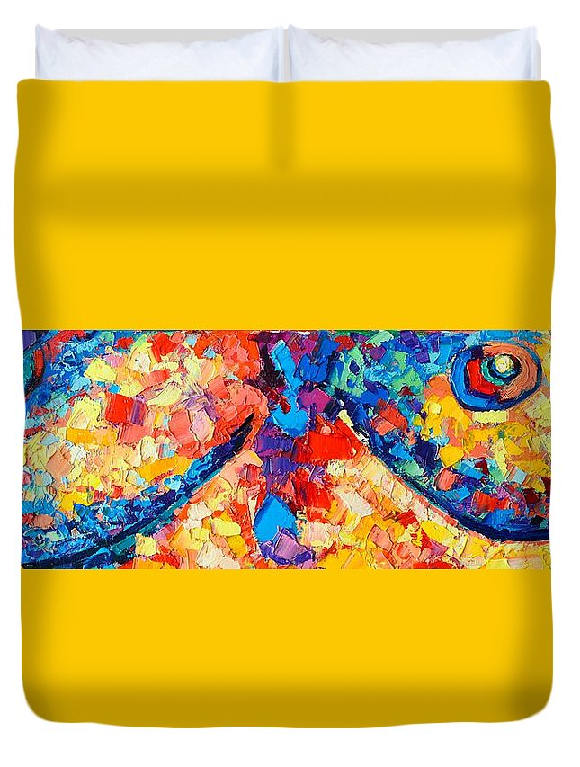 Nude Duvet Cover featuring the painting The Unknown by Ana Maria Edulescu
