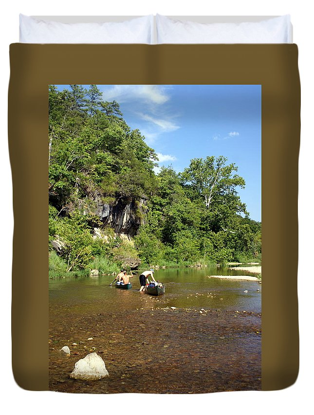 Jack's Fork River Duvet Cover featuring the photograph The Upper Jack by Marty Koch