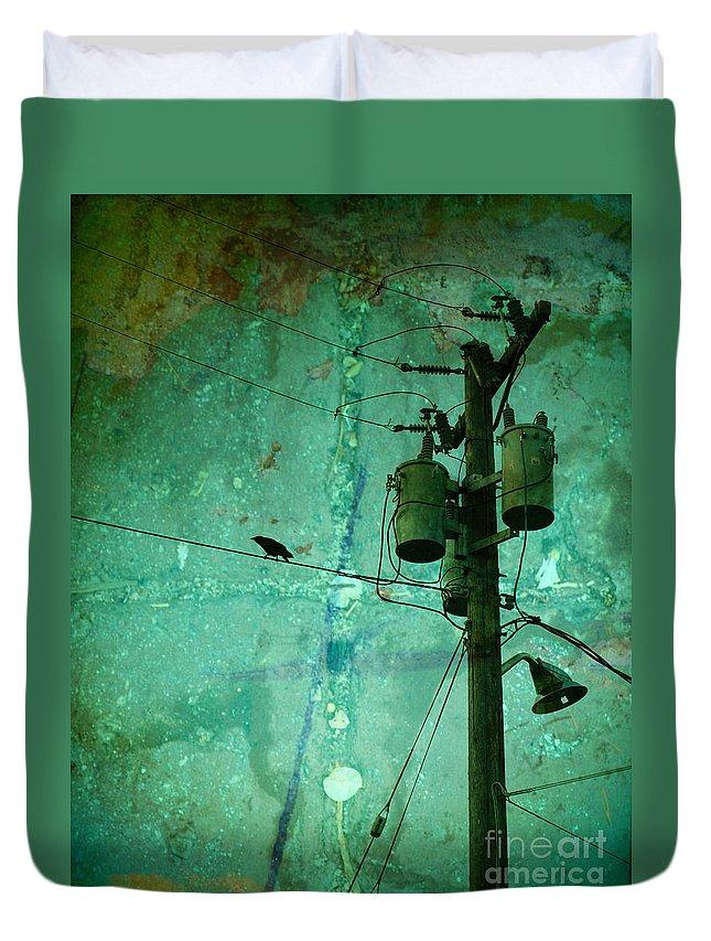 Urban Duvet Cover featuring the photograph The Urban Crow by Tara Turner