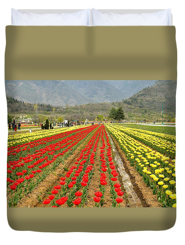 5261 Duvet Cover featuring the photograph The Valley Blooms by Fotosas Photography